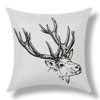 MYJ American Christmas Style Reindeer Decor Cushion Pillow Almofada Home Linen Cotton Throw Pillow  Cushions print your name