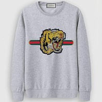 Gucci Casual Simple Women Men Long Sleeve Shirt Top Tee
