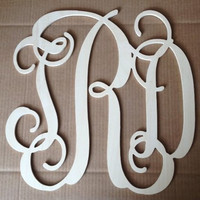 20 inch Vine connected monogram letters