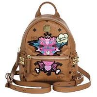 MCM Stefan Strumbel 'Heimat Loves You' Limited Edition Mini Backpack, Cognac