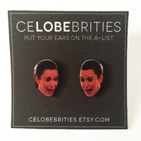 Kim Kardashian Cry Face Earrings