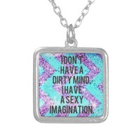 Sexy Imagination Sterling Pendant Necklace