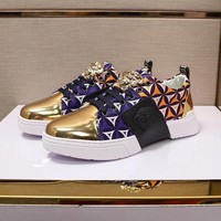 DCCK Versace Men Fashion Gold Casual Sneakers Sport Shoes Size 39-44