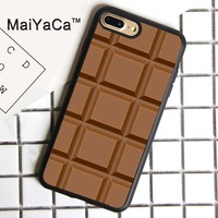 MaiYaCa Chocolate Brown Cake Food Bar Print Soft Rubber Cover For iPhone 8 Plus Case For Apple iPhone 8plus Phone Cases Shell