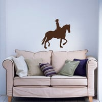 Wall Vinyl Decal Sticker Removable Room Window Girl Woman Lady on Horse TK219