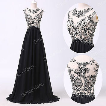 Long Chiffon Formal Prom Masquerade Bridesmaid Evening Ball Gowns COCKTAIL Dress