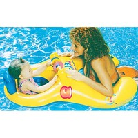 Mother Child Ring Swimming Circle Baby Float Double Swimming Pool Accessories Inflatable Wheels Swimtrainer Circles (Yellow)