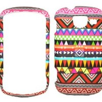 Tribal Style Design Rubberized Snap on Protective Cover Case for Samsung Brightside u380