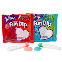 Wonka Valentine Fun Dip Candy and Card Kits: 12-Ounce Box