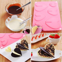Baking mold/baking tools New Lovely Hearts Chocolate Mold Silicone Baking Bakeware for Christmas Party Mould