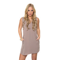 In Your Dreams Shift Dress In Mocha