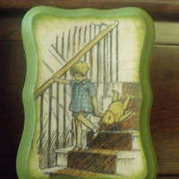 Winnie The Pooh Nursery Nursery Wall Decor Baby Art Christopher Robin Baby Shower Baby Boy Vintage Pooh Hundred Acre Wood Pooh Bear Plaques