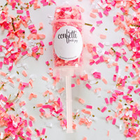 Confetti filled Push Pop Popper / Pink & Gold Confetti  / Party Supplies