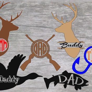Hunting decals, Fishing decals, Dad Yeti Decal, Deer Head, Dad