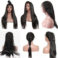 250% Density Straight Lace Front Brazilian Wig
