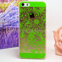 Elaborate Originality Soft TPU Phone Cover Shell Green Case For Apple iPhone 5 5S iPhone SE