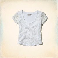 Surfriders Beach Lace Crop Top