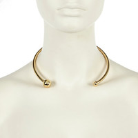 River Island Womens Gold tone open torq necklace