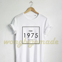 The 1975 Shirt Band Music Tee, Pinterest Tumblr Facedown Album Tour Matt Healy Unisex Black Grey Navy and White Color Tshirt