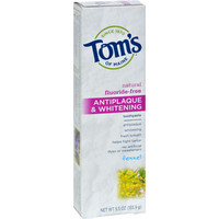 Tom's of Maine Antiplaque and Whitening Toothpaste Fennel - 5.5 oz - Case of 6