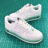 Nike Air Force 1 Low Upstep Af1 White Jade Sport Shoes - Best Online Sale