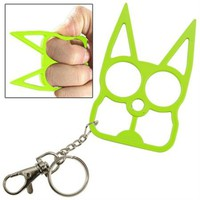 Defense Doggy Key Chain- Green