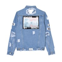 ICEBERG RIPPED DENIM JACKET PRE ORDER