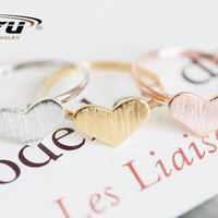 1pc Gold&Pink&Silver Love Heart Cool Women Ring Fashion Jewelry High Quality Midi Knuckle Finger Cute Wedding Rings R217