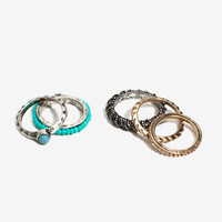 Assorted Turquoise Bliss Ring Set