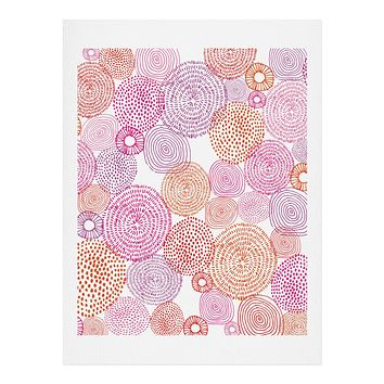 Camilla Foss Circles In Colours I Art Print