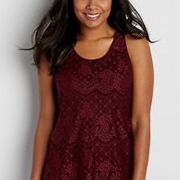 scalloped lace tank | maurices