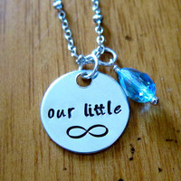"The Fault in our Stars Inspired ""Our little infinity"" Necklace. Hazel and Augustus Infinity symbol. Silver colored with a Swarovski crystal."