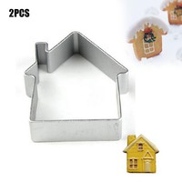 House Shaped Aluminium Mold Sugarcraft Cake Decorating Cookies Baking Pastry Cutter Mould Tool baking tools for cakes