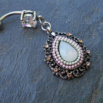 Boho Beaded Belly Button Ring