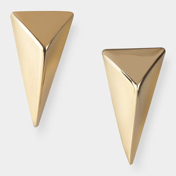 Gold Pyramid Post Earrings