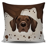 Real German Shorthair Pointer Pillow Cover