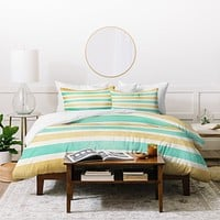Allyson Johnson Summer Time Stripes Duvet Cover