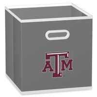 NCAA Texas A&M University Fabric Storage Drawer in Grey