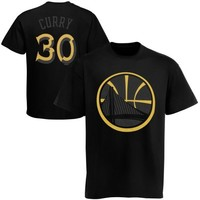 Majestic Stephen Curry Golden State Warriors Reflective T-Shirt - Black