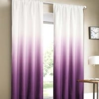 Dainty Home Shades 2-Window Panel Rod Pocket Set, 40 by 84-Inch, Purple