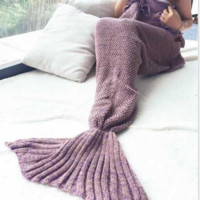 Mermaid Party to Be Adored Blanket Purple