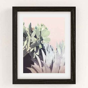 Wilder California Agave And Prickly Pear Art Print