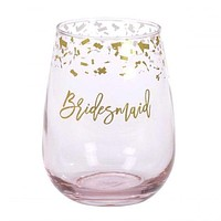 Stemless Wine Glass - Bridesmaid