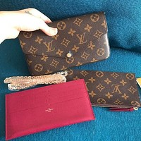 LV Louis vuitton Crossbody bag Hot Sale Popular Women Shopping Bag Leather Handbag Tote Shoulder Bag Satchel Three-Piece