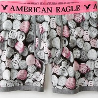 AEO Men's Candy Hearts Athletic Trunk (Grey)