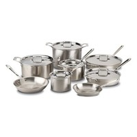 All-Clad 'd5®' 14-Piece Brushed Stainless Steel Cookware Set | Nordstrom