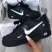 NIKE AIR FORCE 1 AF1 OW Running Sport Shoes Sneakers-8