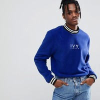 Reclaimed Vintage Inspired Fleece With White Embroidery at asos.com