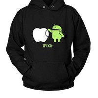 DCCK7H3 Droid Android Fix Apple Hoodie Two Sided