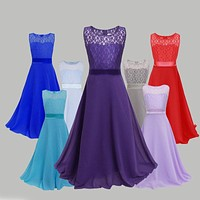 New Arrival Teenage Girls Princess Dresses Teen Girl Prom Lace Dress Girl Formal Dress Kids Wedding Party Clothes Child Clothing